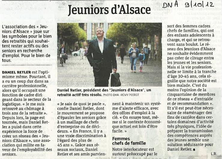 Revue de presse – Réseau les Jeuniors d'Alsace